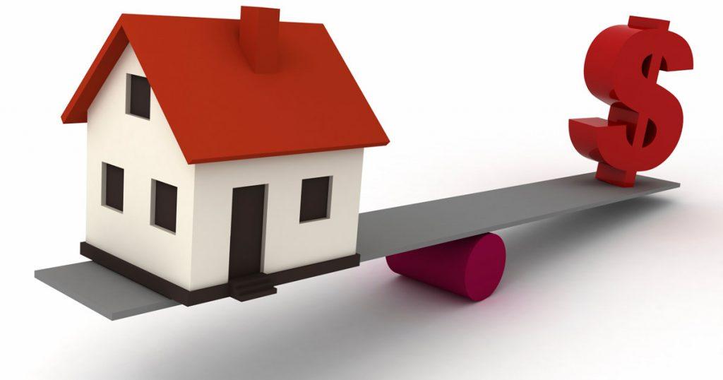 Klackalica procene vrednosti nekretnina koja metaforicki pokazuje procenu nekretnina.